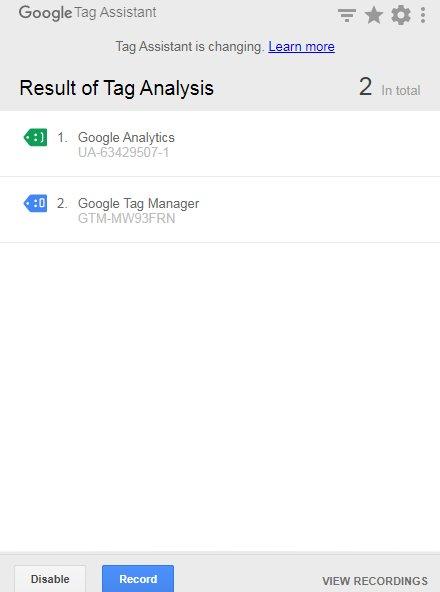 Google Tag Assistant
